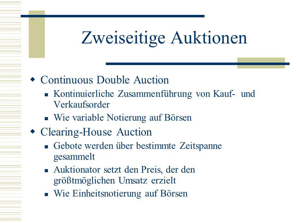 Zweiseitige Auktionen
