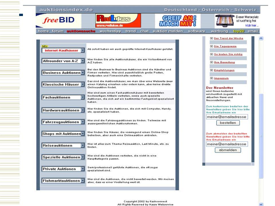 Auktionsindex.de listet viele Marktplätze und Auktion auf, die es in Deutschland und anderen Europäischen Staaten gibt.