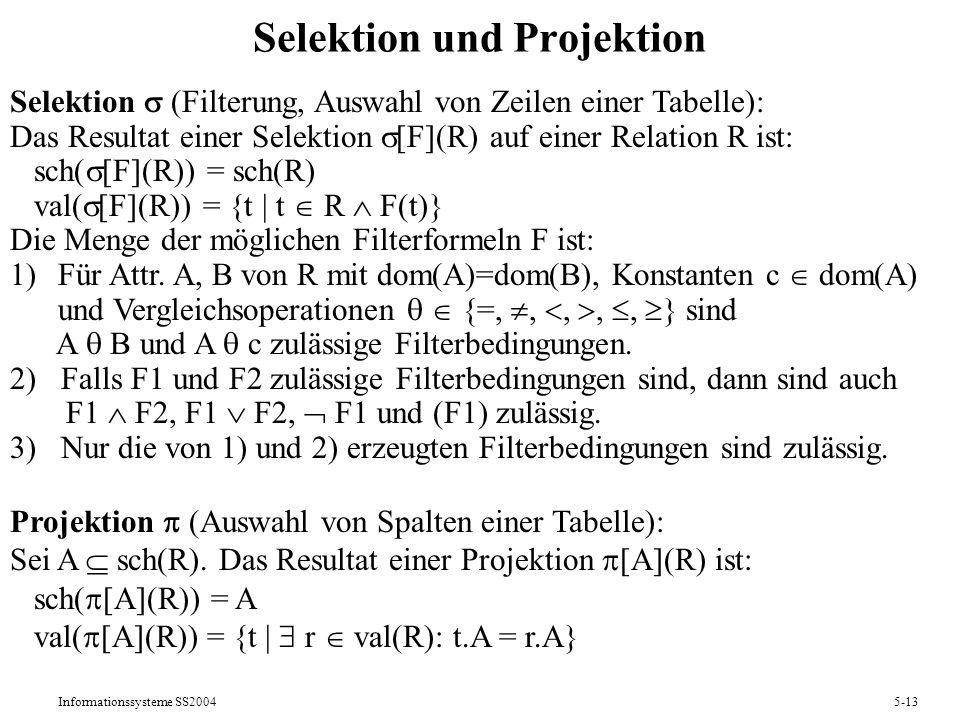 Selektion und Projektion