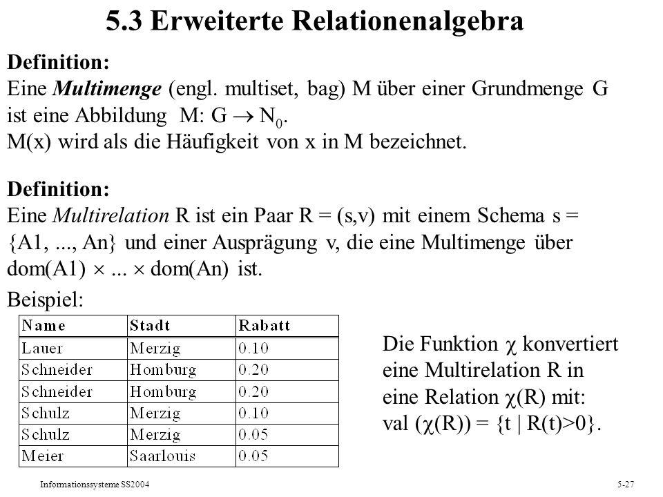5.3 Erweiterte Relationenalgebra