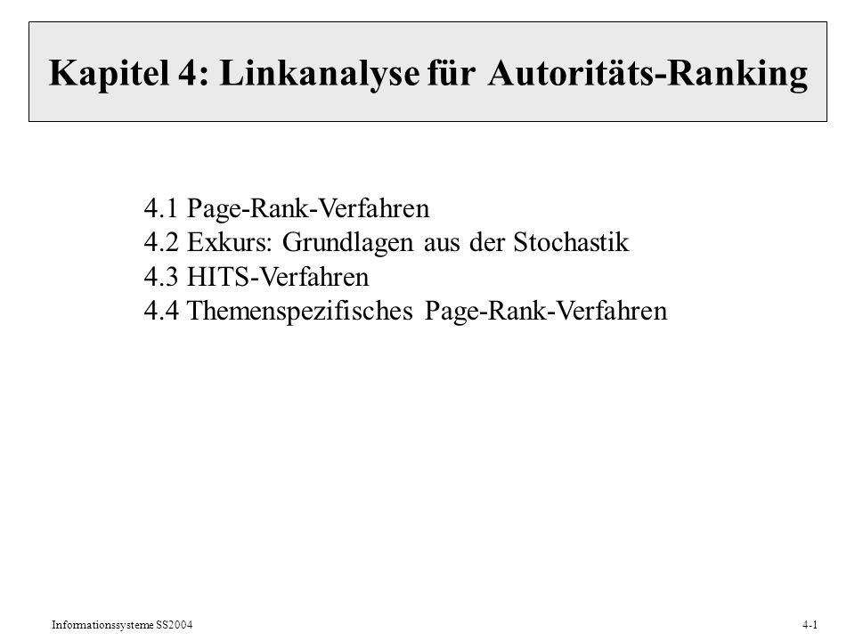 Kapitel 4: Linkanalyse für Autoritäts-Ranking