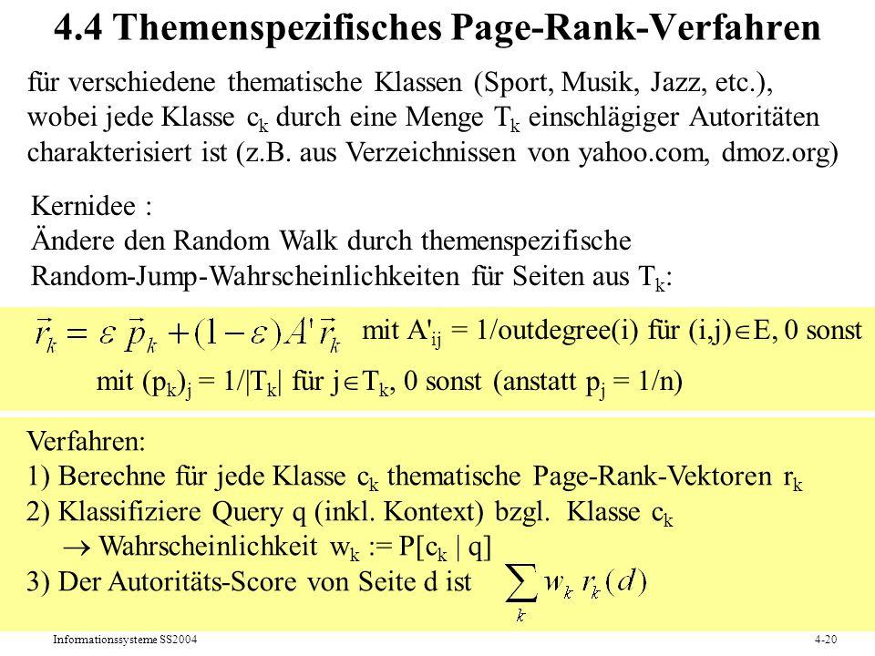 4.4 Themenspezifisches Page-Rank-Verfahren
