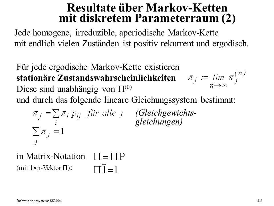Resultate über Markov-Ketten mit diskretem Parameterraum (2)
