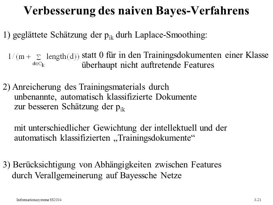 Verbesserung des naiven Bayes-Verfahrens