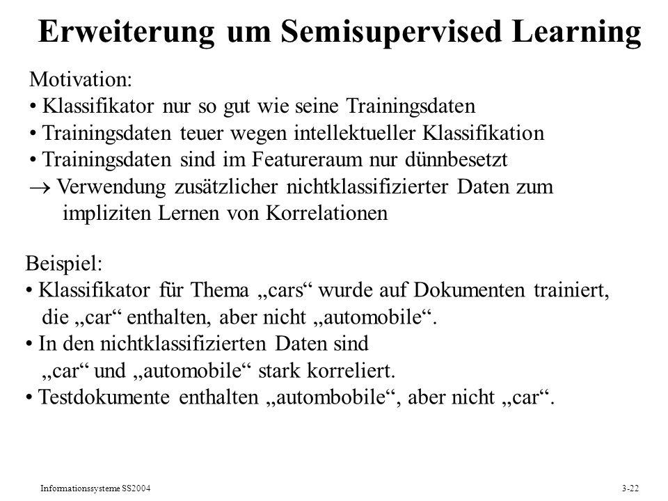 Erweiterung um Semisupervised Learning