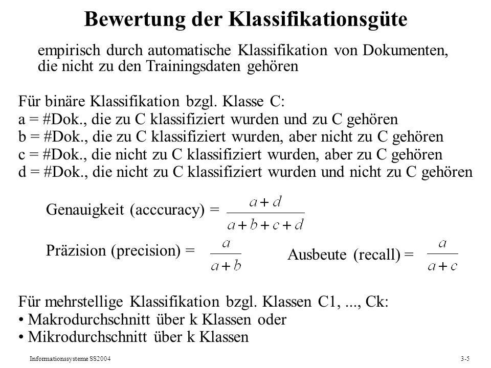 Bewertung der Klassifikationsgüte