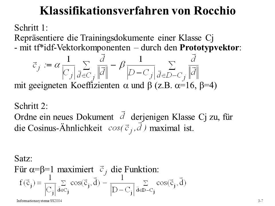 Klassifikationsverfahren von Rocchio