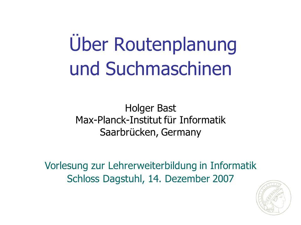 Über Routenplanung und Suchmaschinen