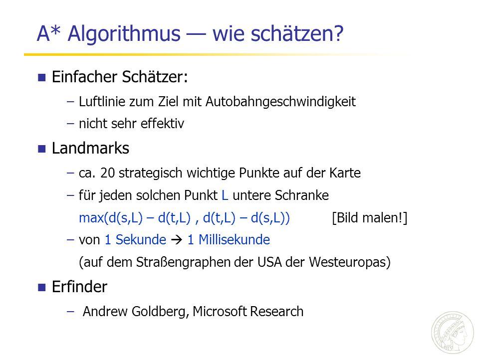 A* Algorithmus — wie schätzen