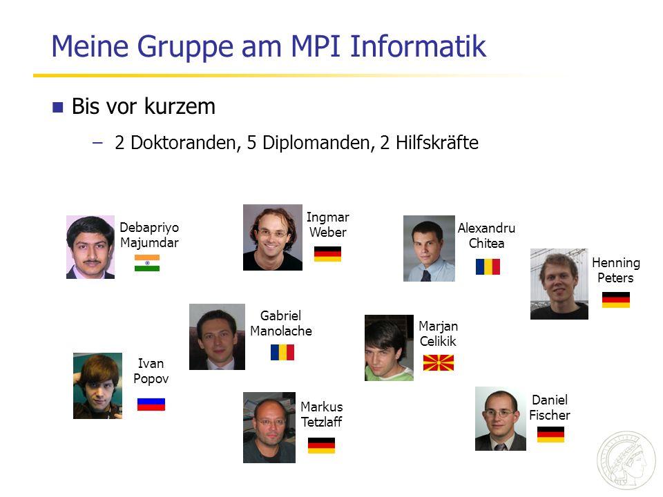 Meine Gruppe am MPI Informatik