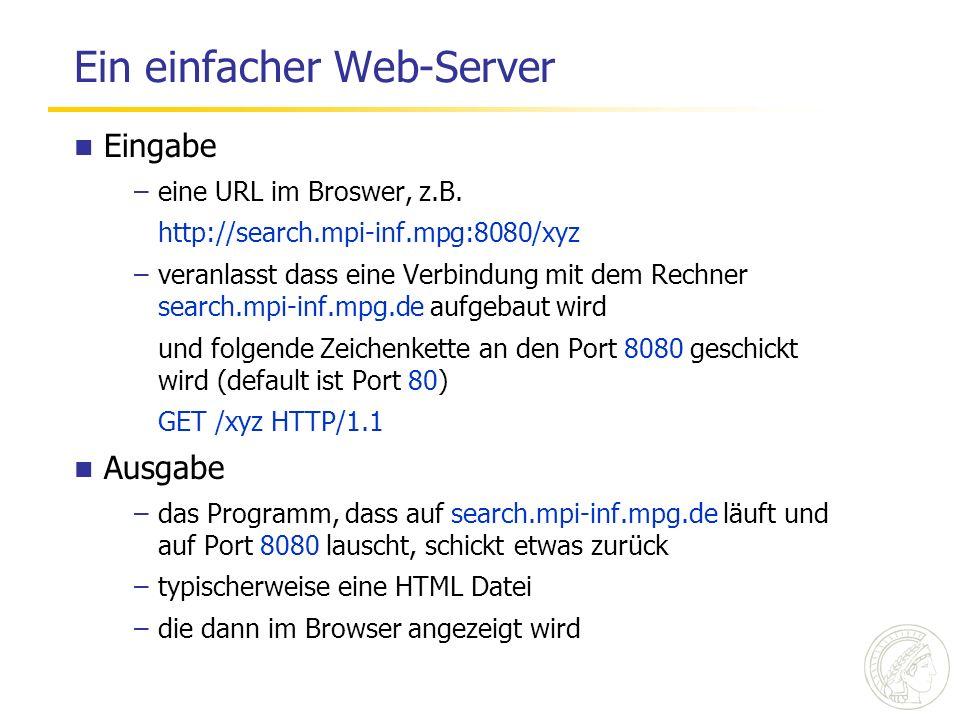 Ein einfacher Web-Server