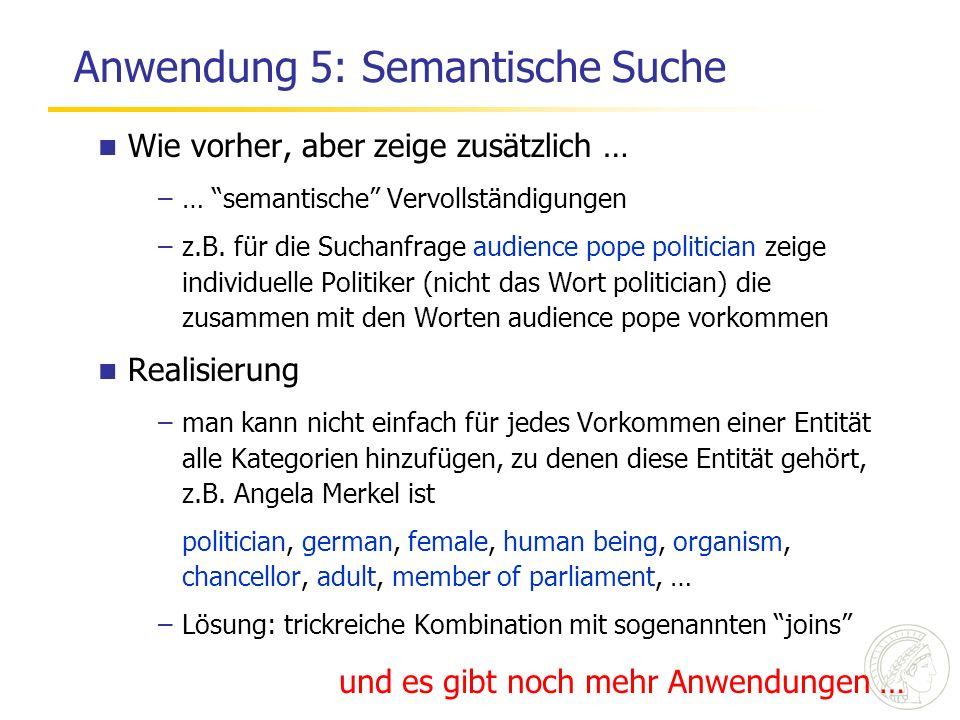 Anwendung 5: Semantische Suche