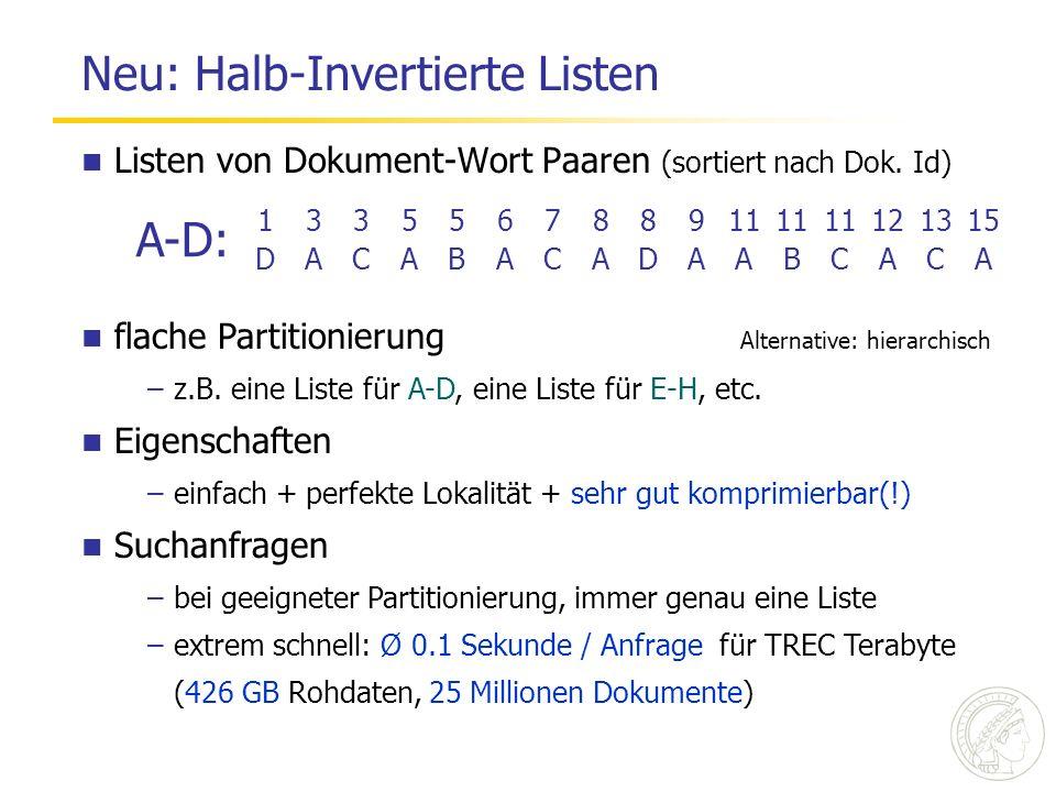 Neu: Halb-Invertierte Listen