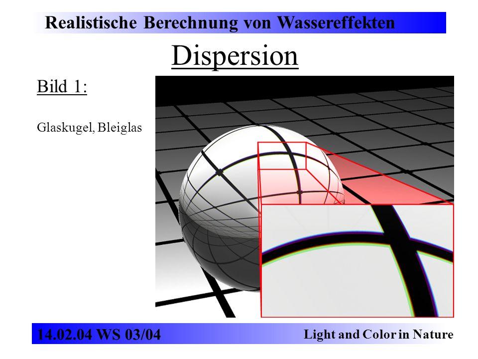 Dispersion Realistische Berechnung von Wassereffekten Bild 1: