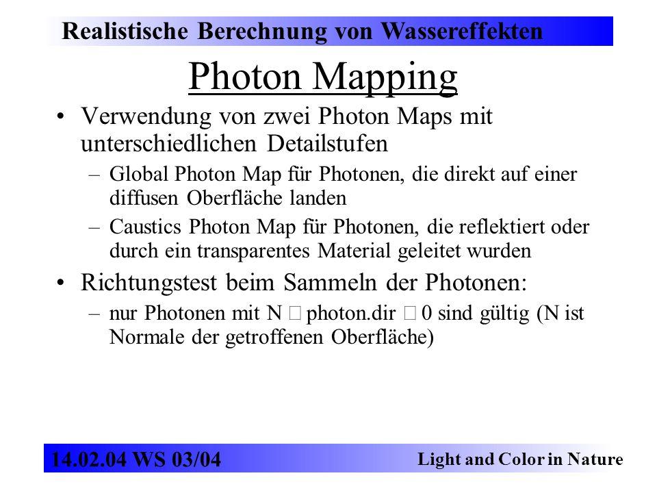 Photon Mapping Realistische Berechnung von Wassereffekten