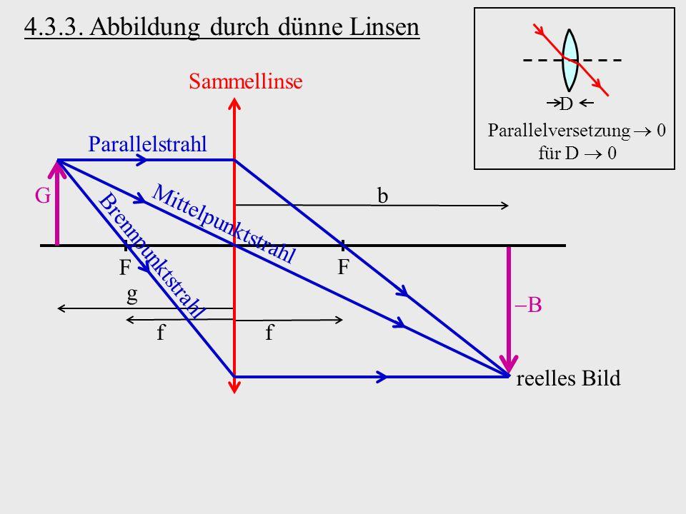 Parallelversetzung  0 für D  0