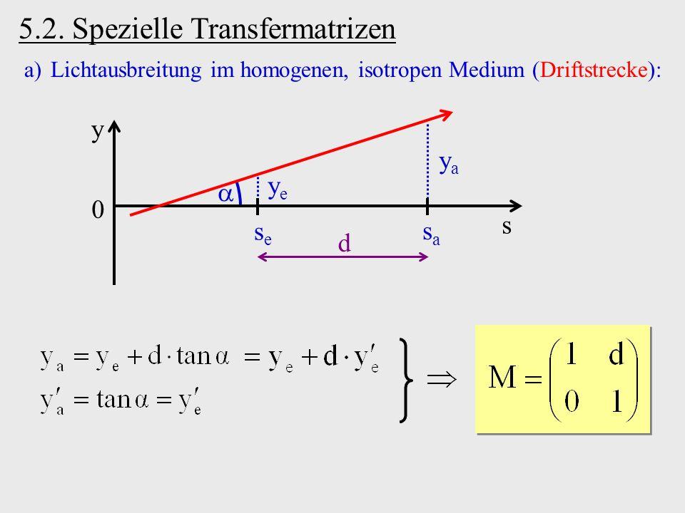 5.2. Spezielle Transfermatrizen