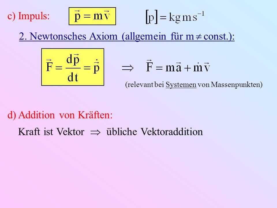 2. Newtonsches Axiom (allgemein für m  const.):