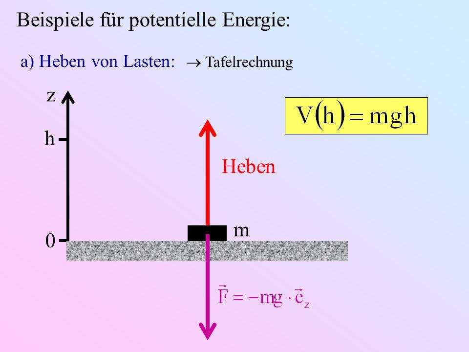Beispiele für potentielle Energie: