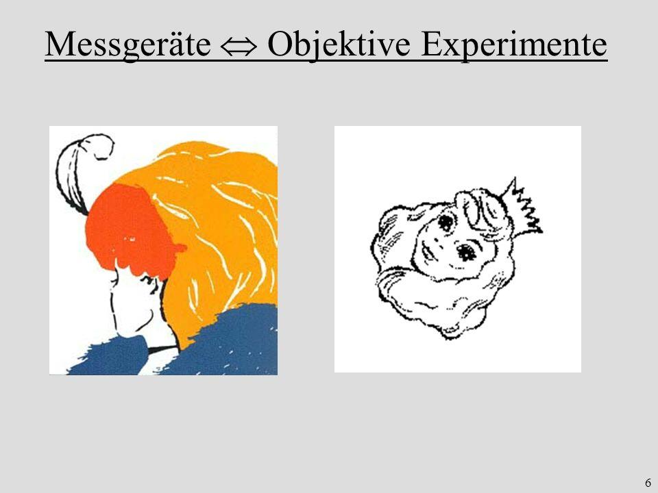 Messgeräte  Objektive Experimente