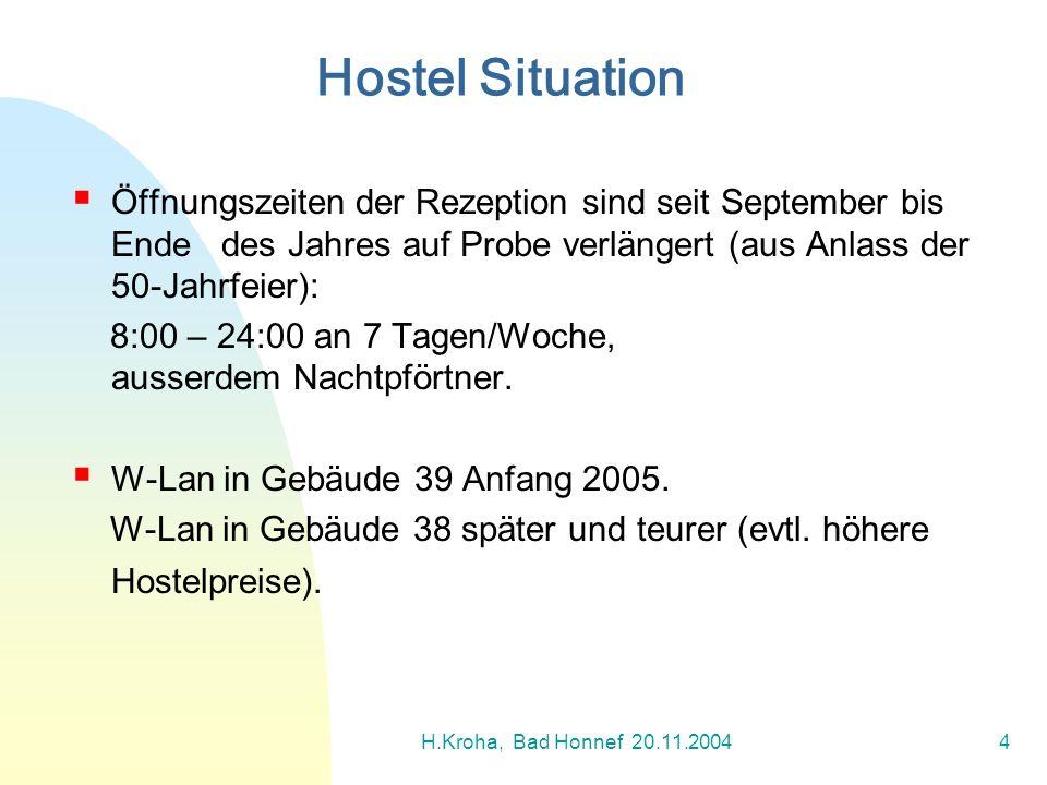 Hostel Situation Öffnungszeiten der Rezeption sind seit September bis Ende des Jahres auf Probe verlängert (aus Anlass der 50-Jahrfeier):
