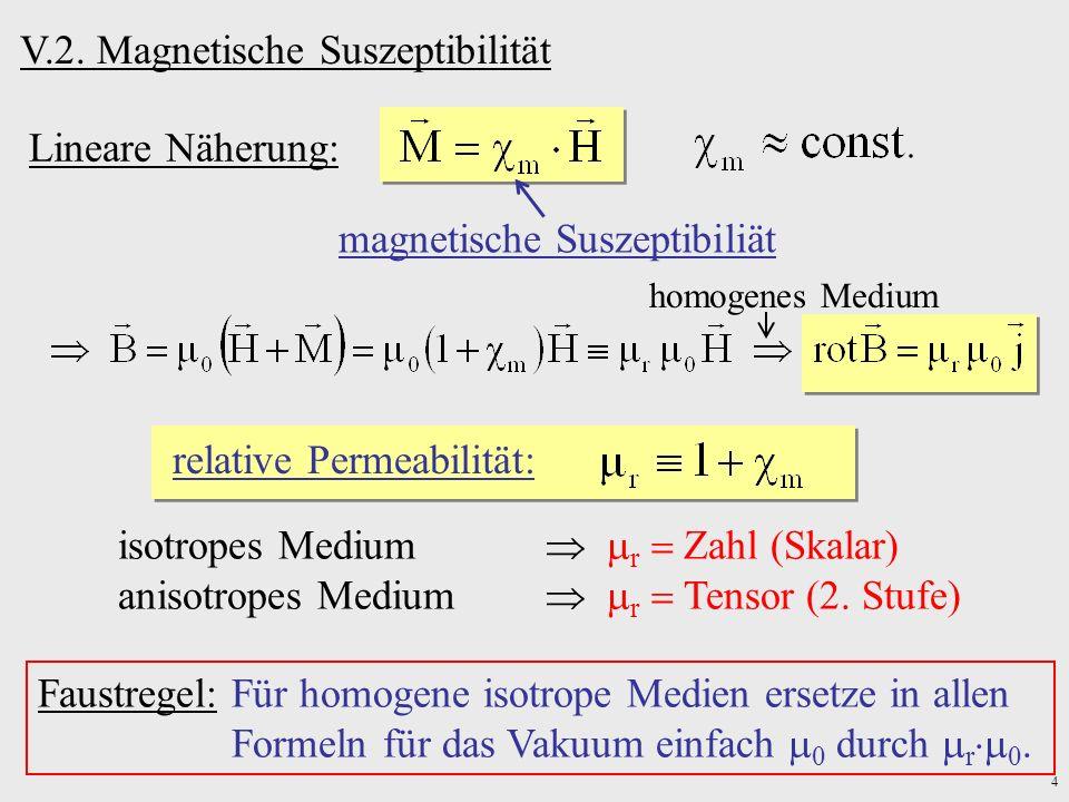 V.2. Magnetische Suszeptibilität