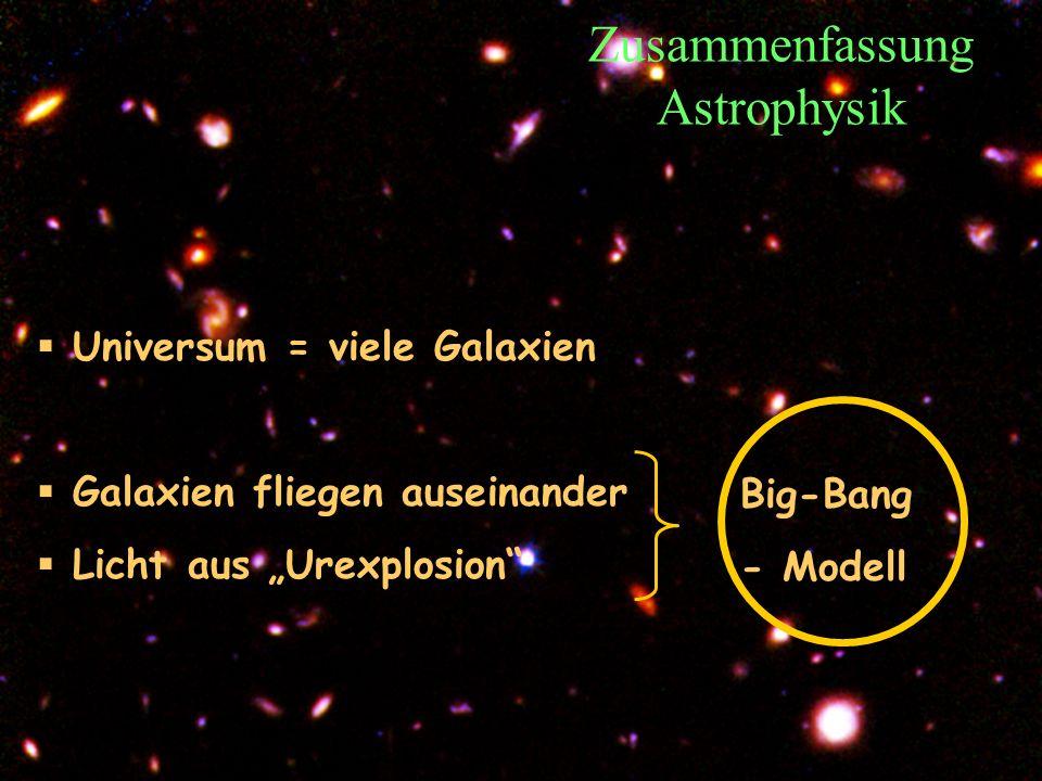 Zusammenfassung Astrophysik