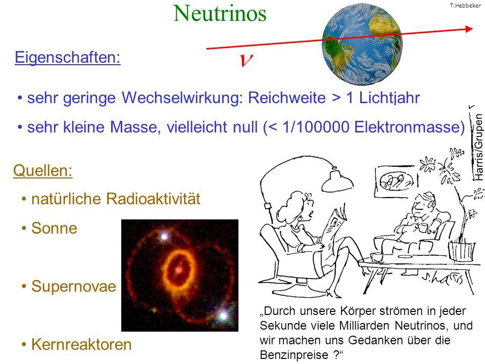 Neutrinos Eigenschaften: