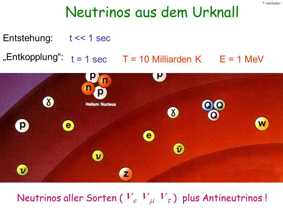 Neutrinos aus dem Urknall