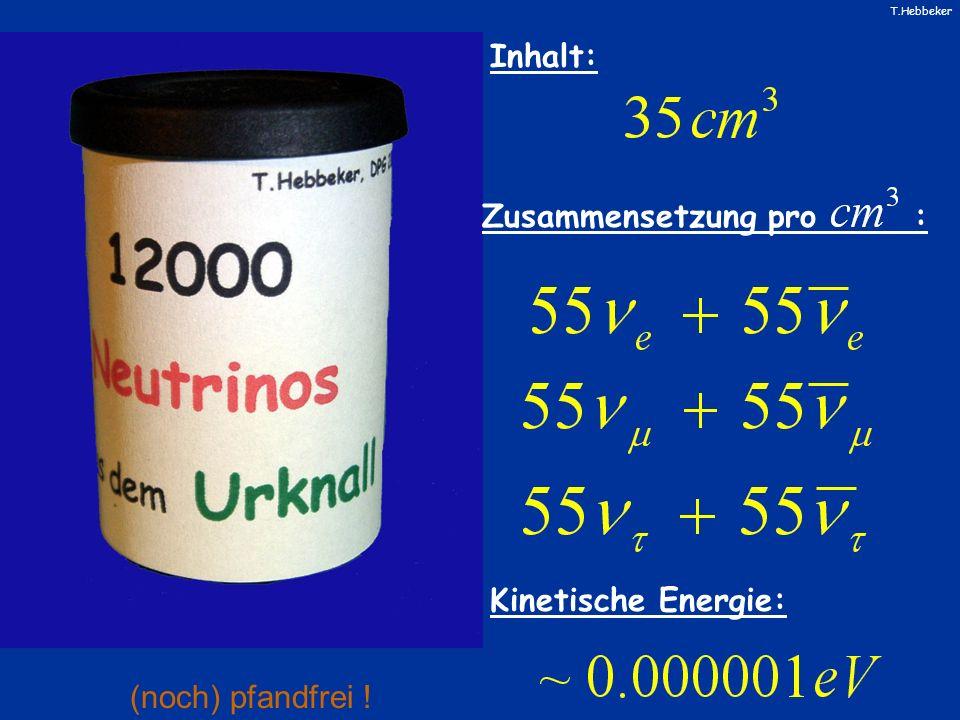 Inhalt: Zusammensetzung pro : Kinetische Energie: (noch) pfandfrei !