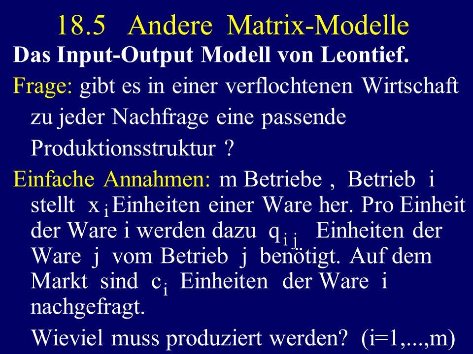18.5 Andere Matrix-Modelle