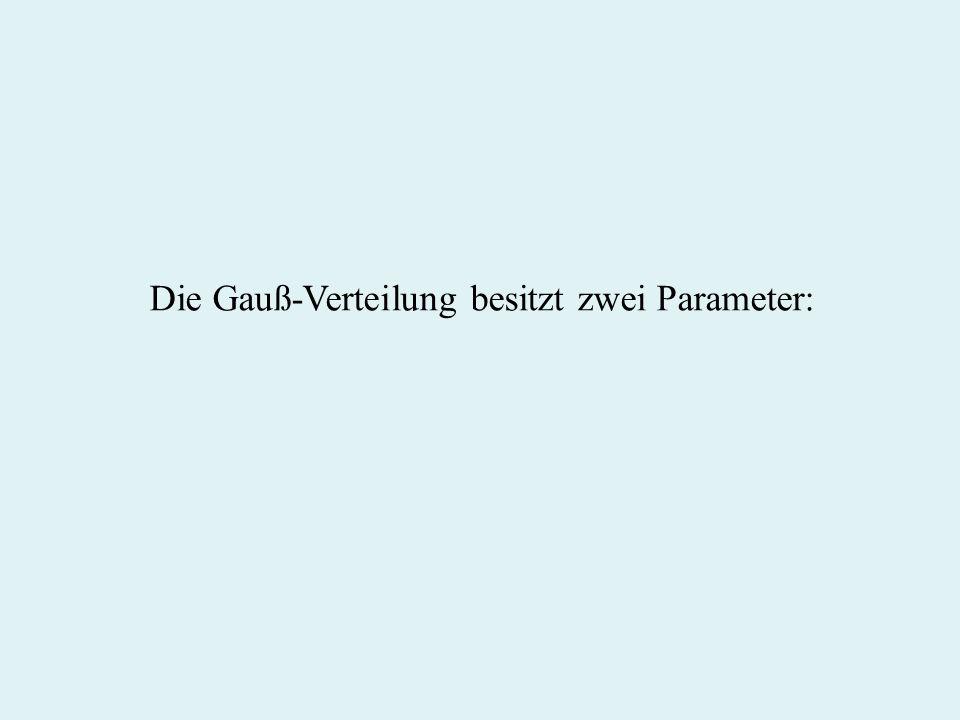 Die Gauß-Verteilung besitzt zwei Parameter: