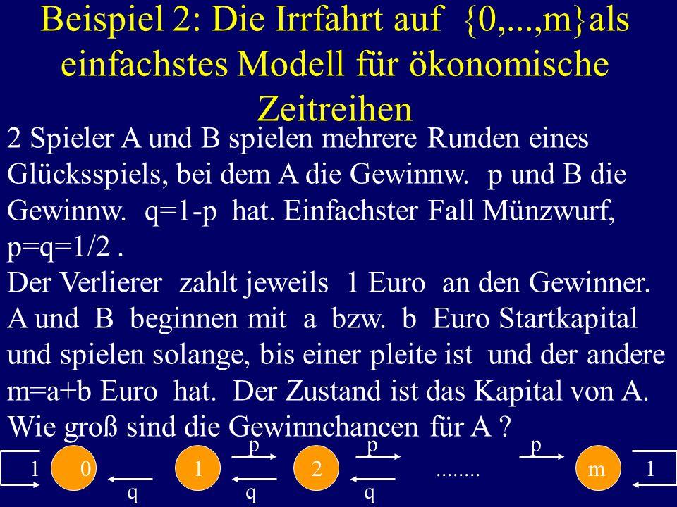 Beispiel 2: Die Irrfahrt auf {0,