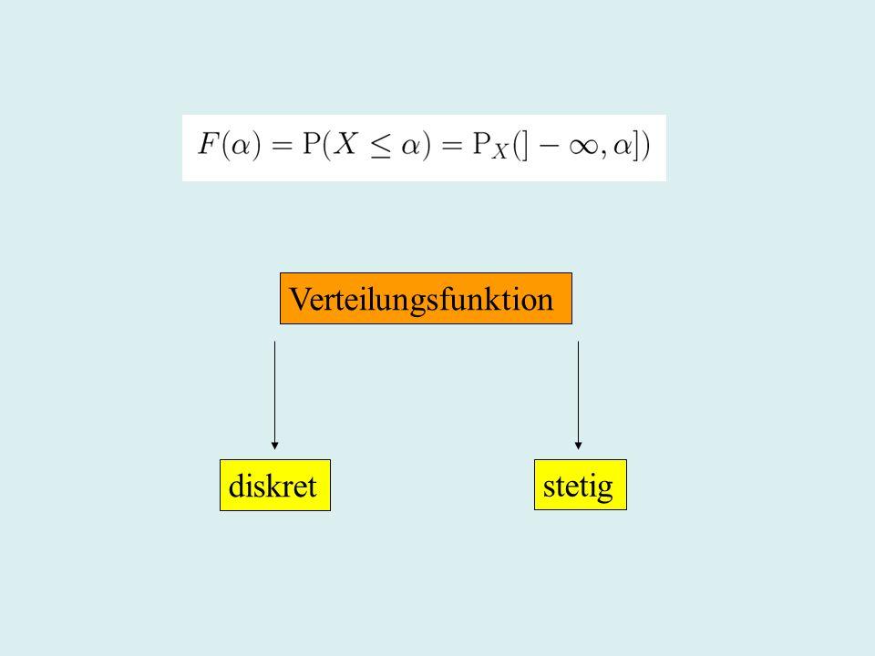Verteilungsfunktion diskret stetig