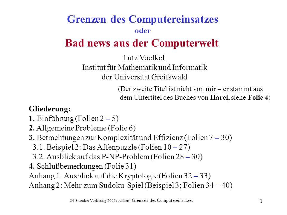 Grenzen des Computereinsatzes