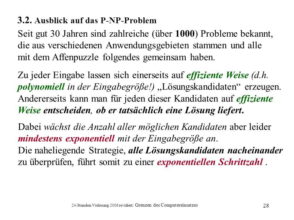 3.2. Ausblick auf das P-NP-Problem