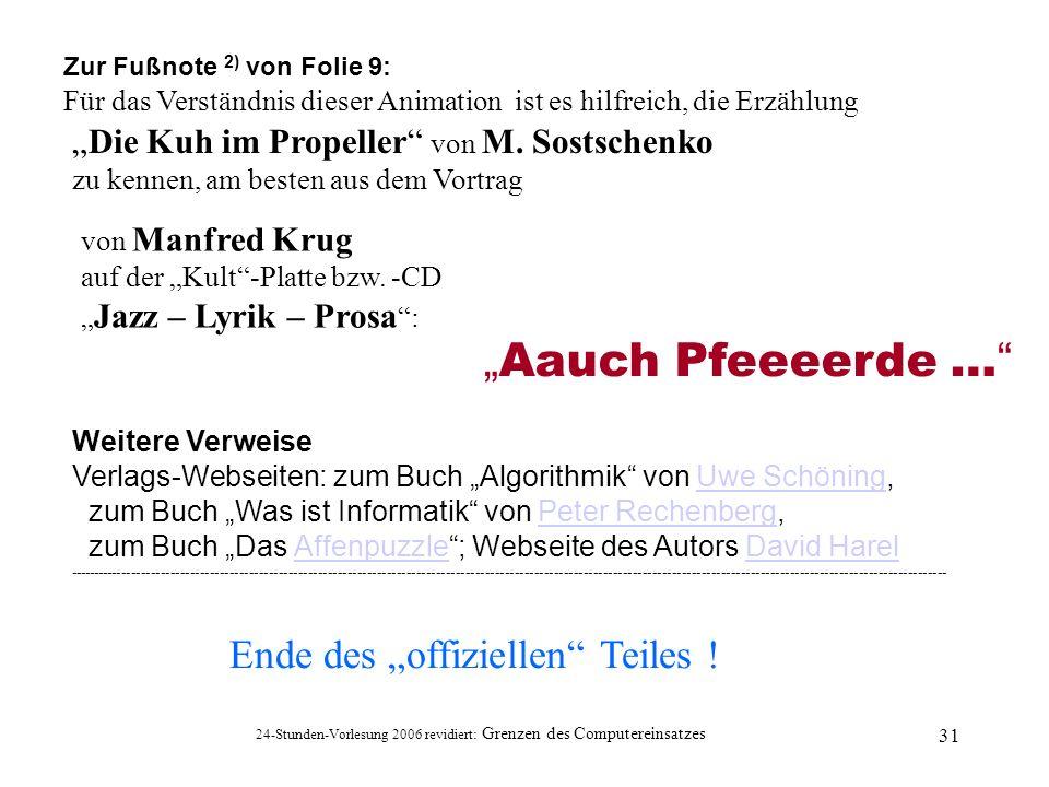 """""""Aauch Pfeeeerde … Ende des """"offiziellen Teiles !"""