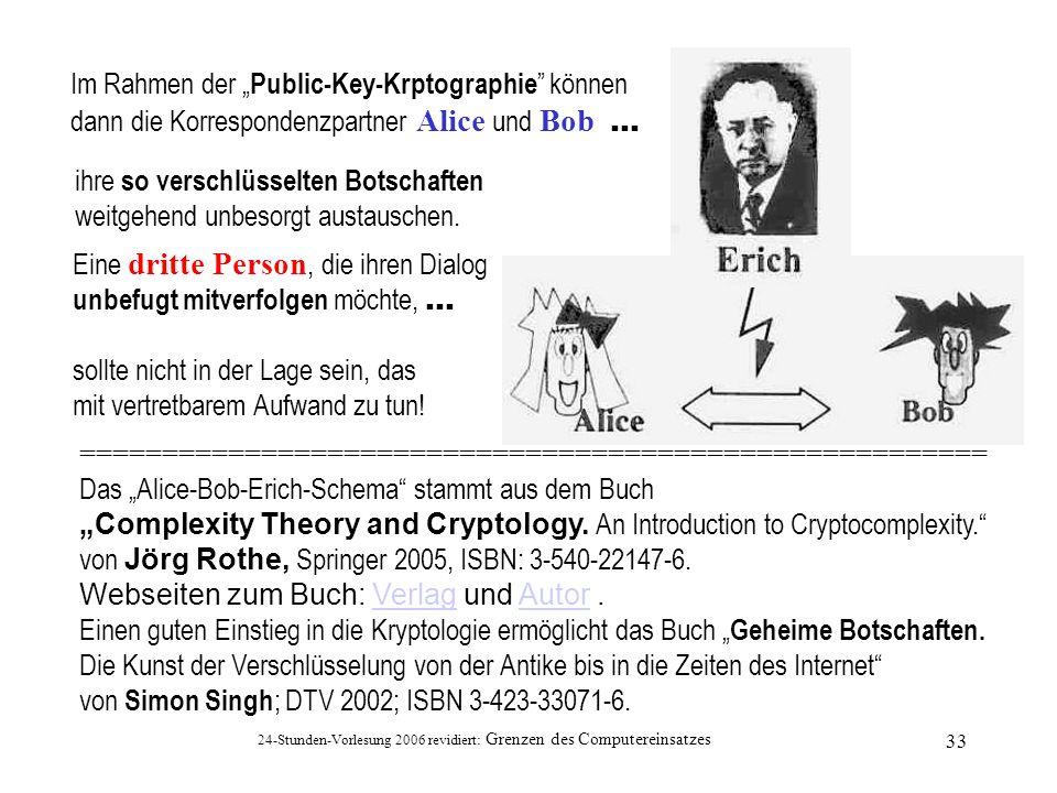 """Im Rahmen der """"Public-Key-Krptographie können"""