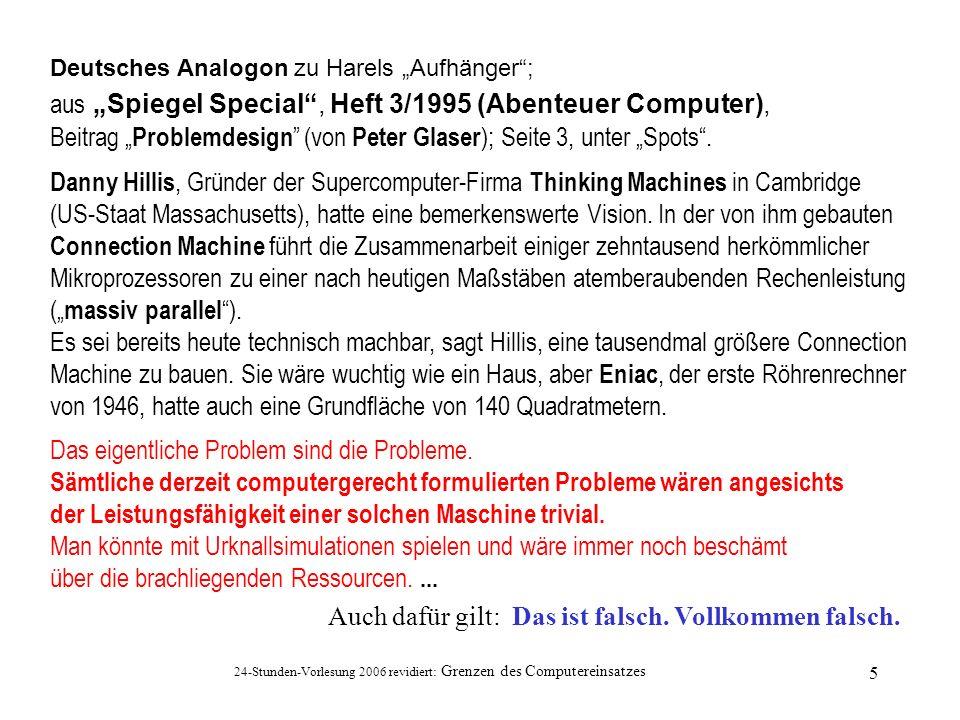 """aus """"Spiegel Special , Heft 3/1995 (Abenteuer Computer),"""