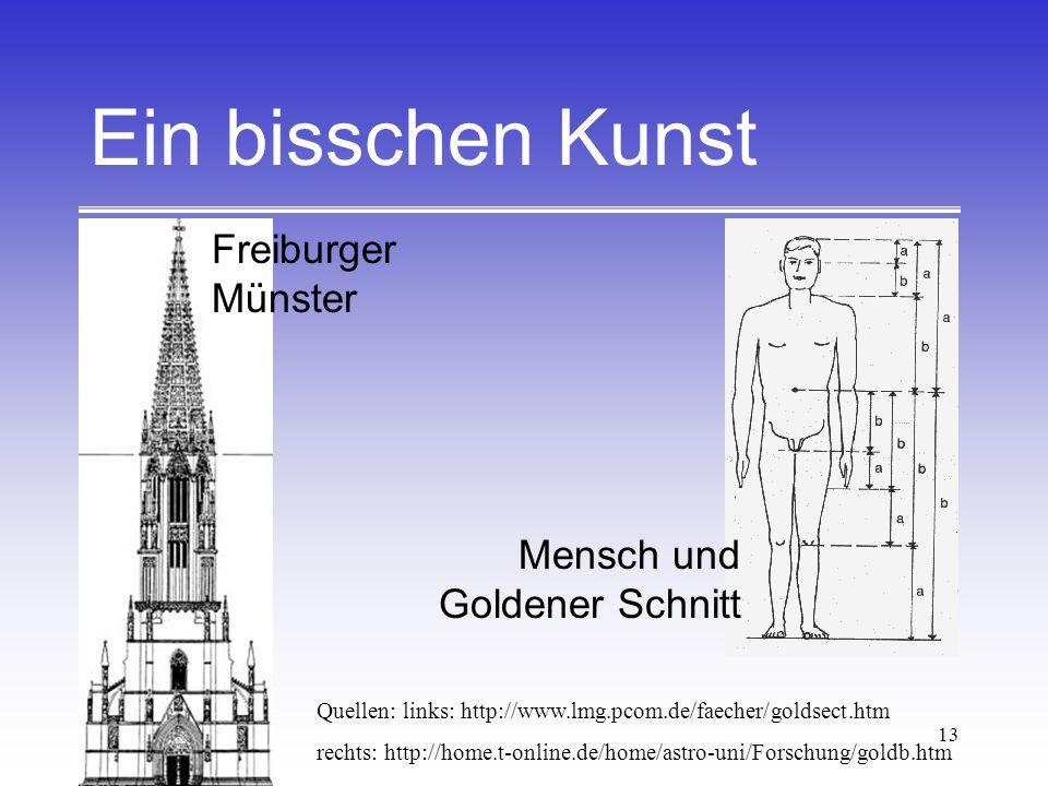 Ein bisschen Kunst Freiburger Münster Mensch und Goldener Schnitt