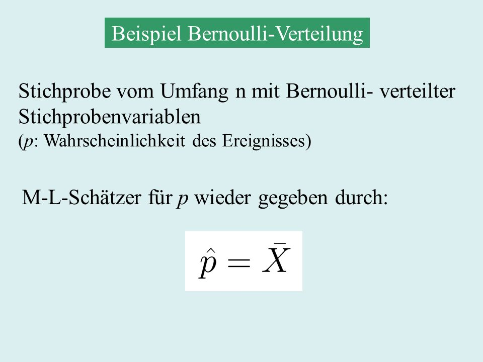 Beispiel Bernoulli-Verteilung