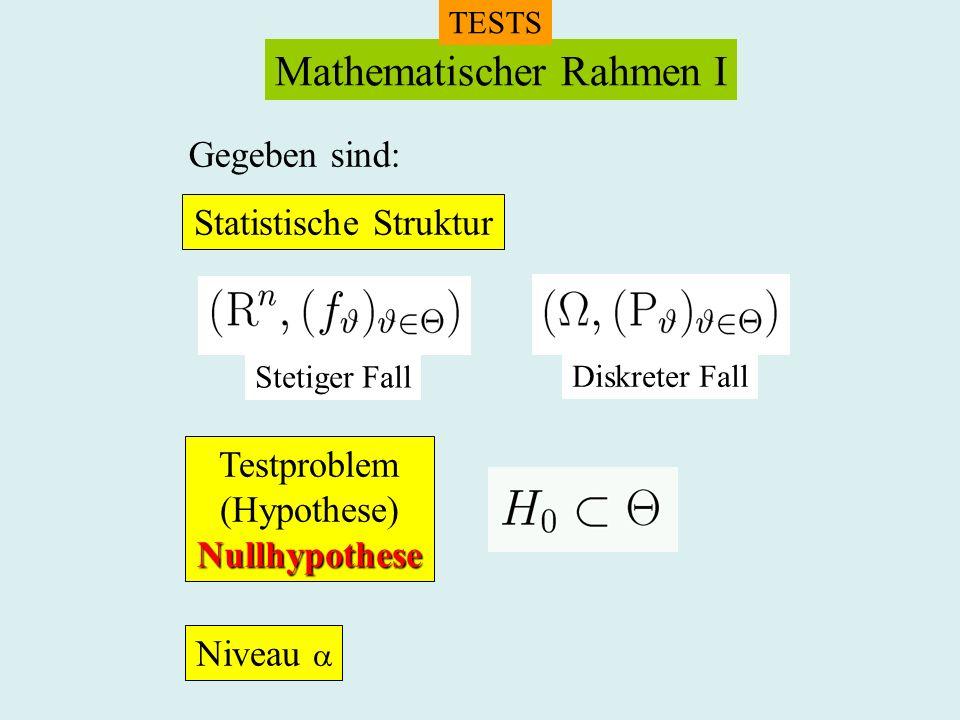 Mathematischer Rahmen I