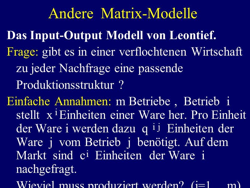 Andere Matrix-Modelle