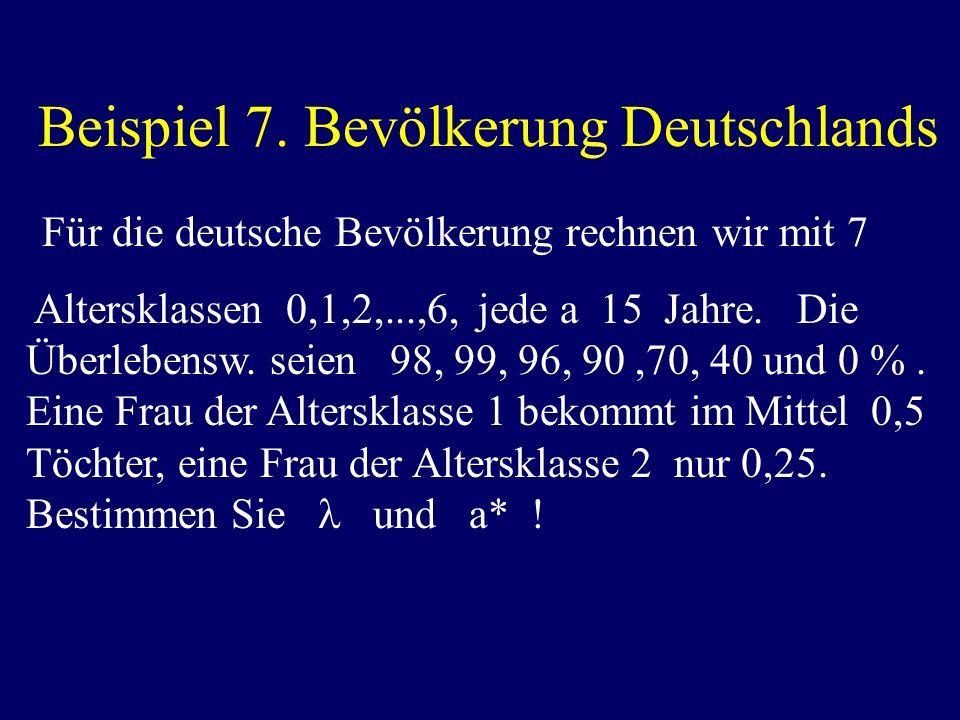 Beispiel 7. Bevölkerung Deutschlands