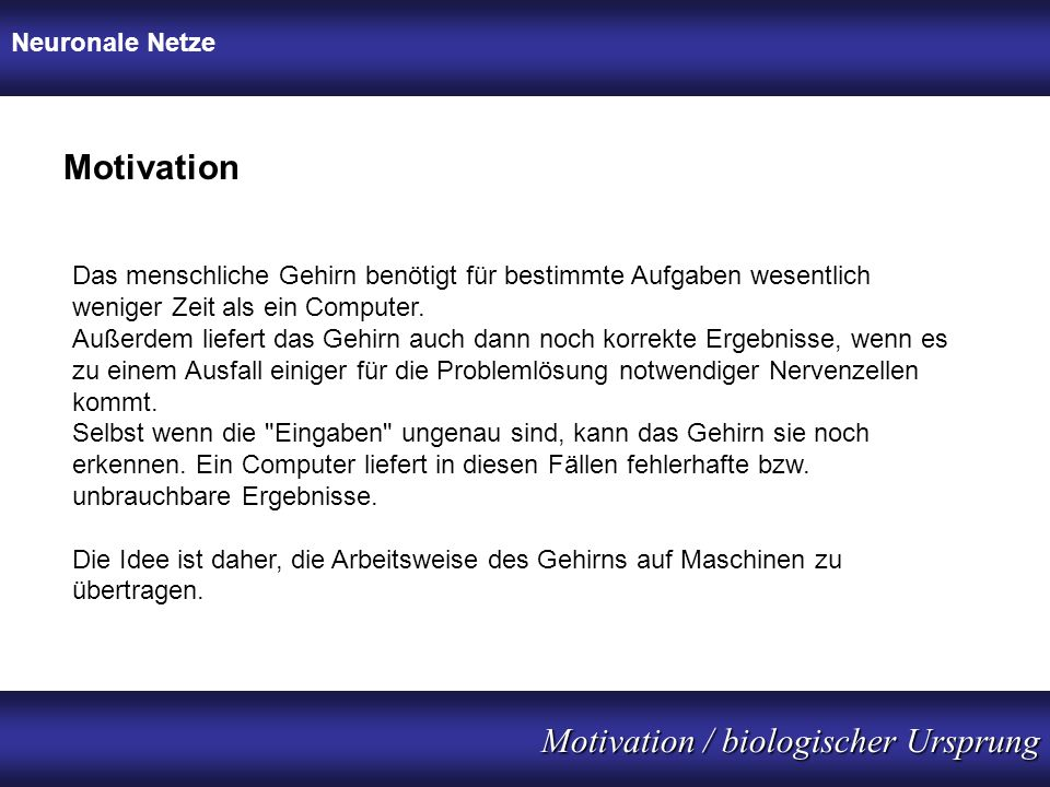 Motivation / biologischer Ursprung