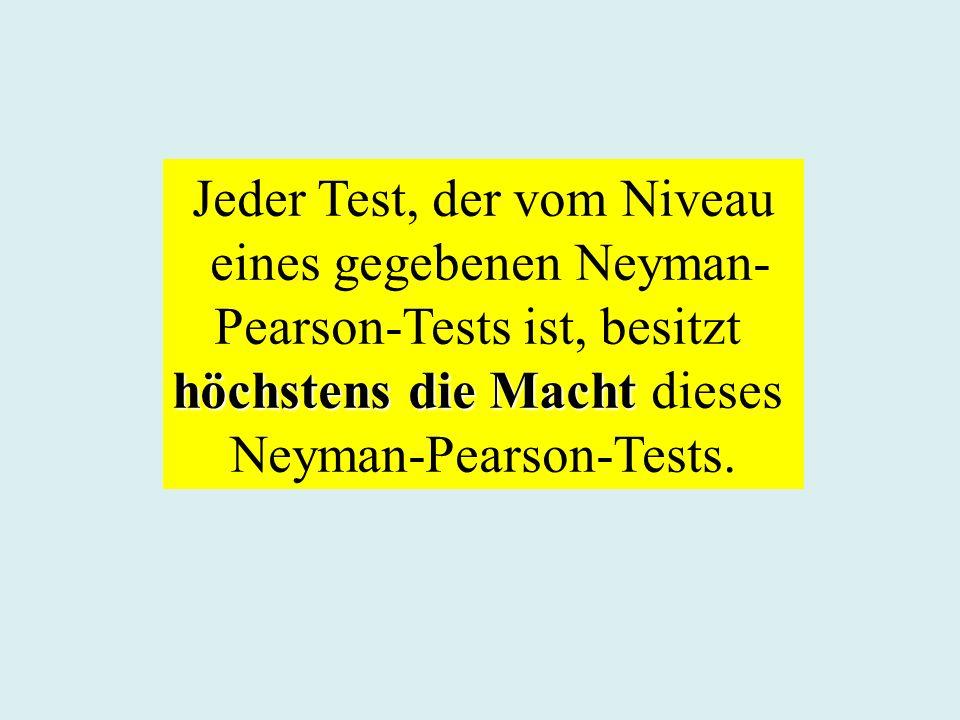 Jeder Test, der vom Niveau eines gegebenen Neyman-