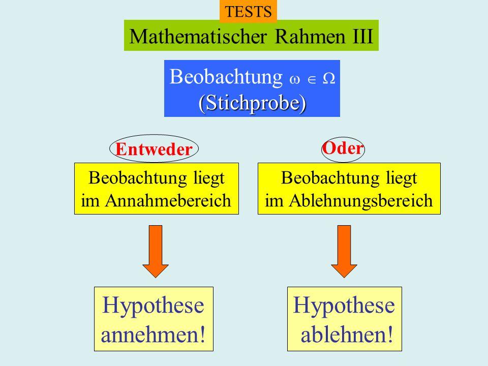 Mathematischer Rahmen III
