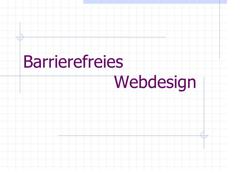 Barrierefreies Webdesign