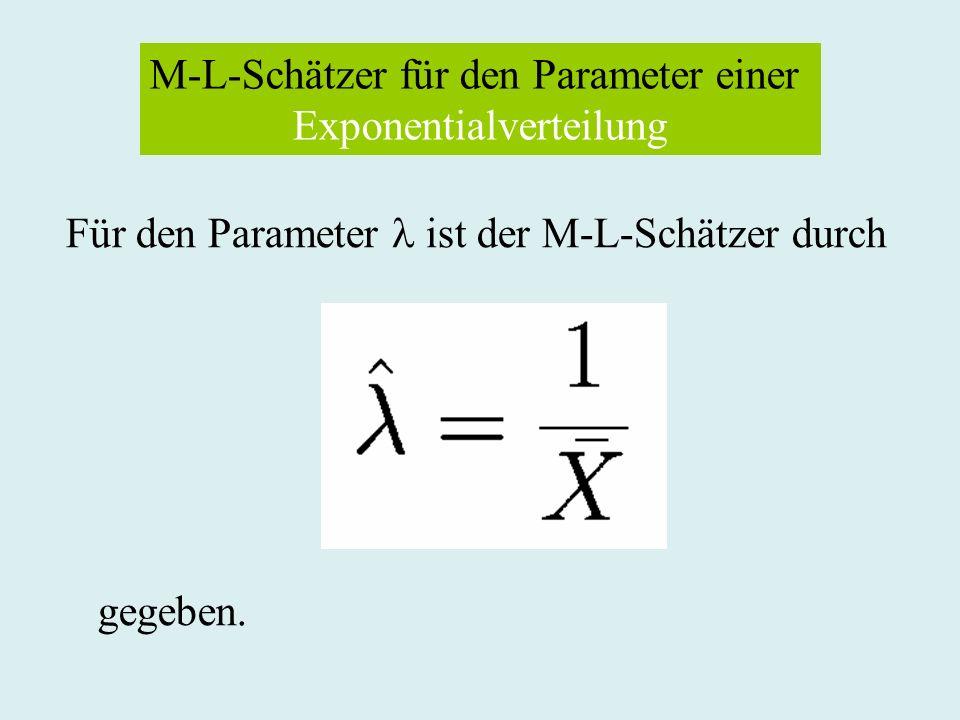 M-L-Schätzer für den Parameter einer Exponentialverteilung