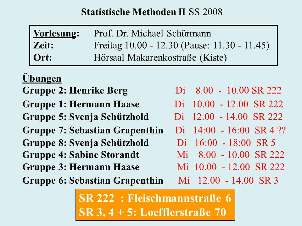 Statistische Methoden II SS 2008